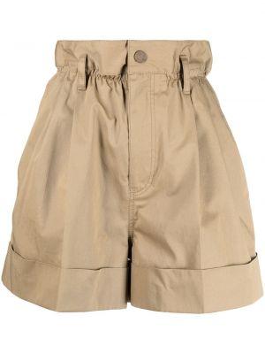 С завышенной талией хлопковые шорты с карманами Moncler