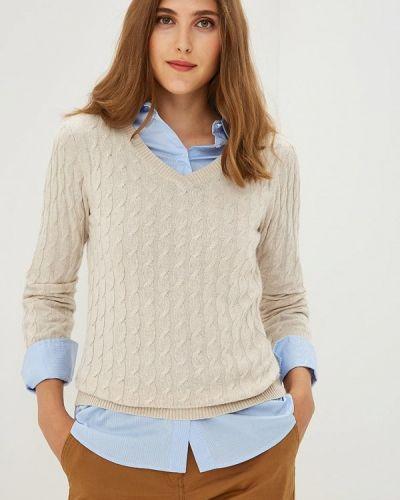 Бежевый пуловер 2018 Baon