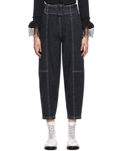 Белые джинсы стрейч с пряжкой See By Chloé