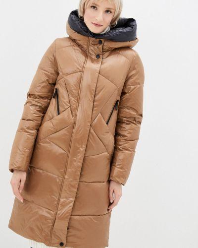 Коричневая утепленная куртка Qwentiny