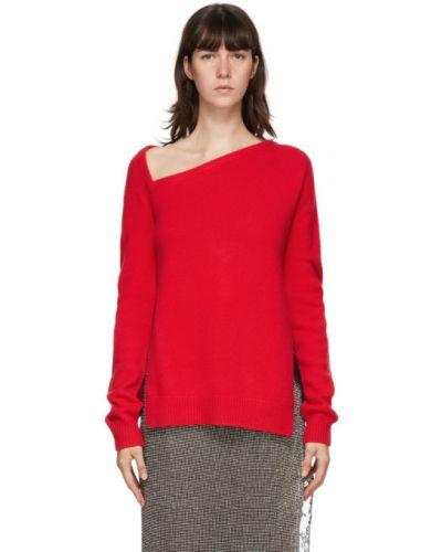 Z kaszmiru sweter asymetryczny z długimi rękawami Christopher Kane