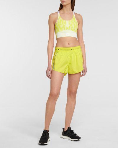 Желтые шорты Adidas By Stella Mccartney