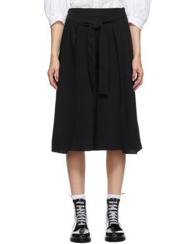 Плиссированные черные шорты из крепа See By Chloé