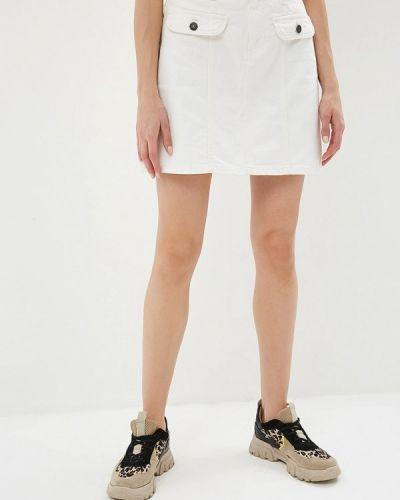 Джинсовая юбка белая Noisy May