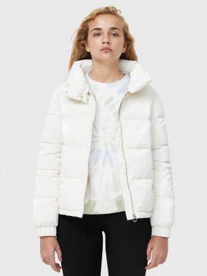 Белая куртка осенняя Stradivarius