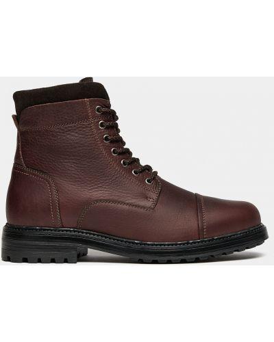 Облегченные коричневые кожаные ботинки Ralf Ringer