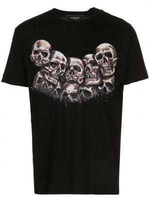 Koszula krótkie z krótkim rękawem prosto z nadrukiem Domrebel