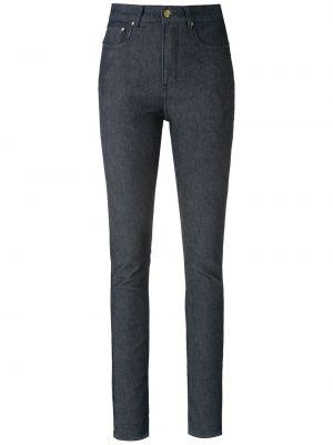 Зауженные синие брюки дудочки с карманами Amapô