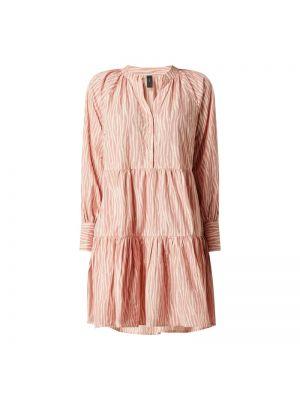 Różowa sukienka rozkloszowana bawełniana Y.a.s