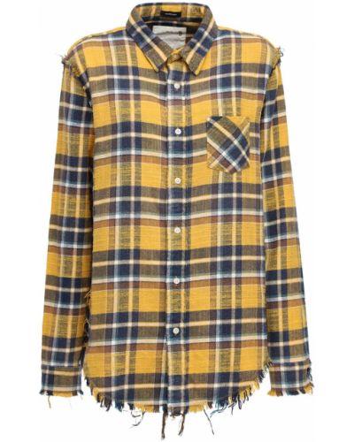 Фланелевая рубашка с карманами на пуговицах R13