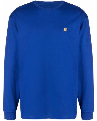 Prążkowany niebieski top z długimi rękawami Carhartt Wip