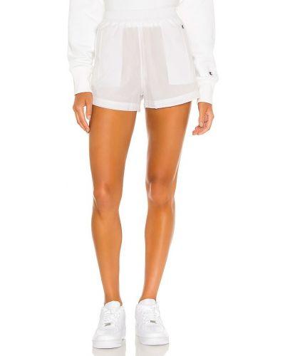 Нейлоновые белые шорты с карманами Champion