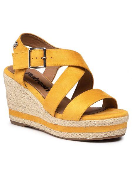 Sandały espadryle - żółte Refresh