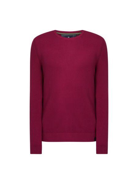 Prążkowany różowy sweter bawełniany Lerros