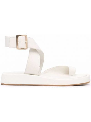 Кожаные сандалии - белые Gia Couture