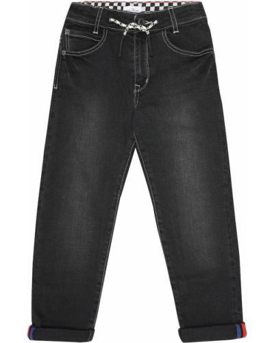 Bawełna bawełna czarny jeansy z łatami The Marc Jacobs
