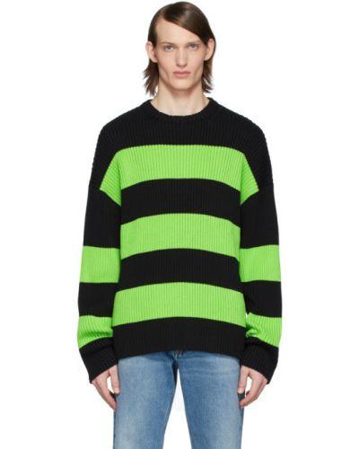 Czarny sweter w paski bawełniany Balenciaga