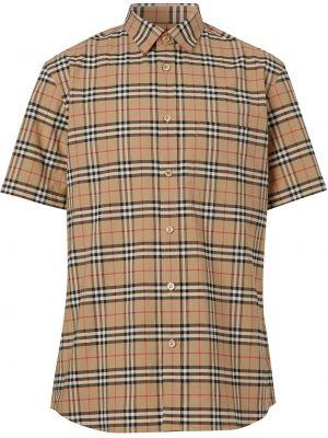 Klasyczny beżowy klasyczna koszula z kołnierzem rozciągać Burberry