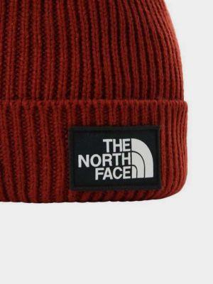 Вязаная шапка бини - бордовая The North Face