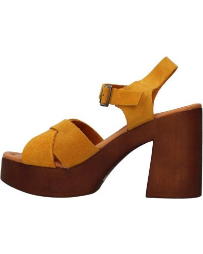 Żółte sandały Bionatura