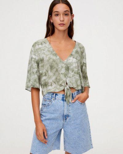 Блузка с длинным рукавом зеленый турецкий Pull&bear