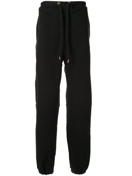 Спортивные черные спортивные брюки с карманами на молнии Makavelic