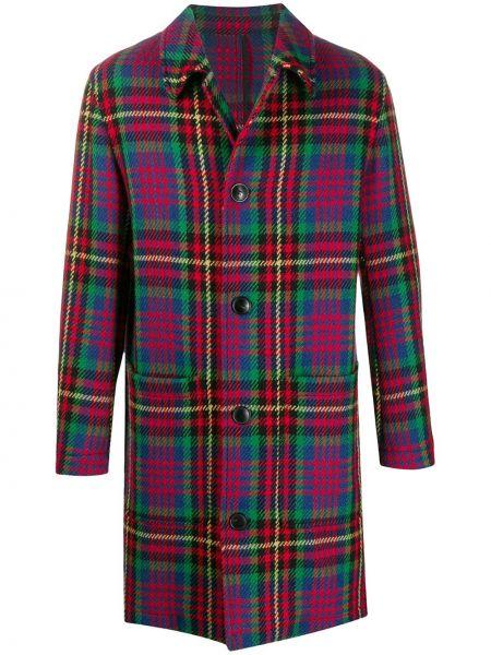 Шерстяное пальто - синее Ami Paris