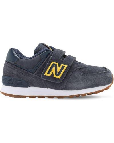 Z paskiem skórzany sneakersy na hakach New Balance