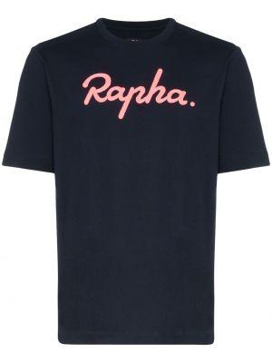 Niebieski t-shirt bawełniany krótki rękaw Rapha
