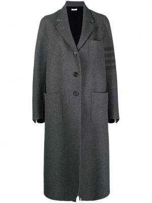 Серое пальто на пуговицах Thom Browne