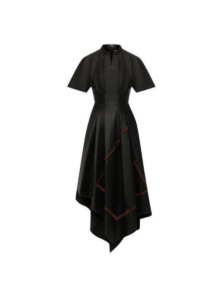 Платье кожаное черное Loewe
