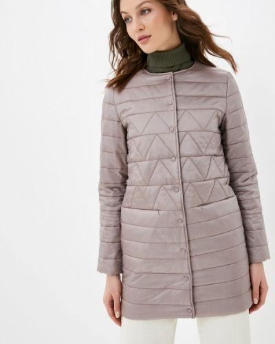 Бежевая утепленная куртка снежная королева