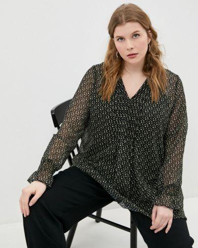 Черная блузка Ulla Popken