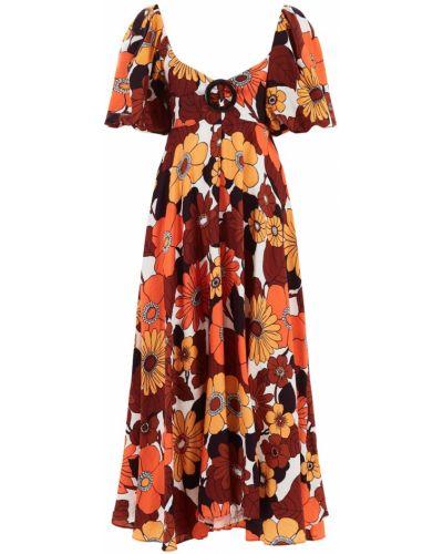 Расклешенное платье с рукавами с декольте винтажное круглое Dodo Bar Or