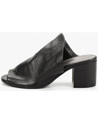 Сабо черные на каблуке O`shade