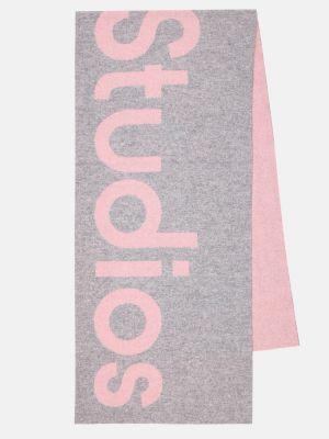 Шерстяной розовый шарф оверсайз Acne Studios