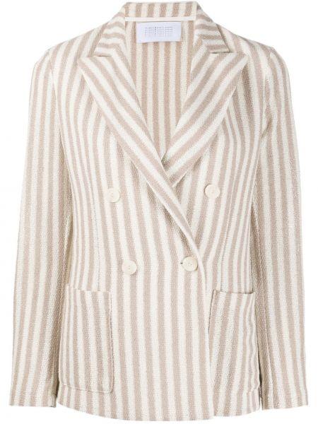 Пиджак с заплатками бежевый Harris Wharf London