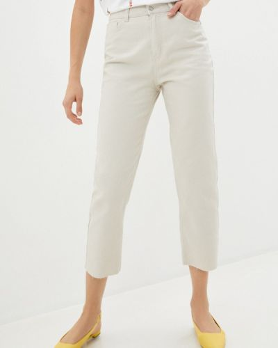 Повседневные бежевые брюки Sela
