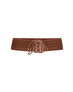 Текстильный коричневый ремень Liu Jo