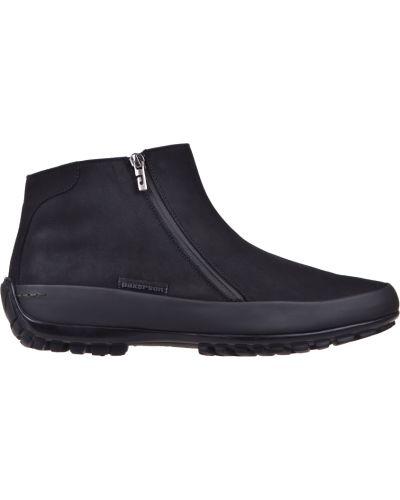 Ботинки осенние из нубука черные Pakerson