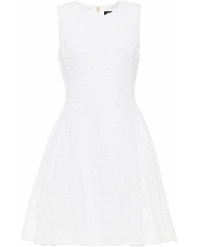 Расклешенное белое платье мини с подкладкой Dkny