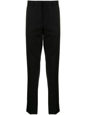 Шерстяные прямые черные брюки Ralph Lauren Purple Label