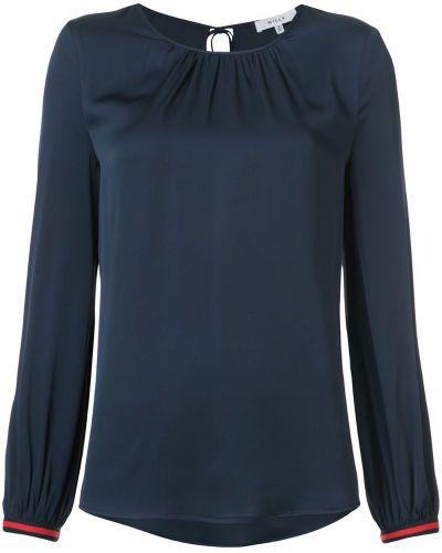 Блузка с вырезом шелковая Milly