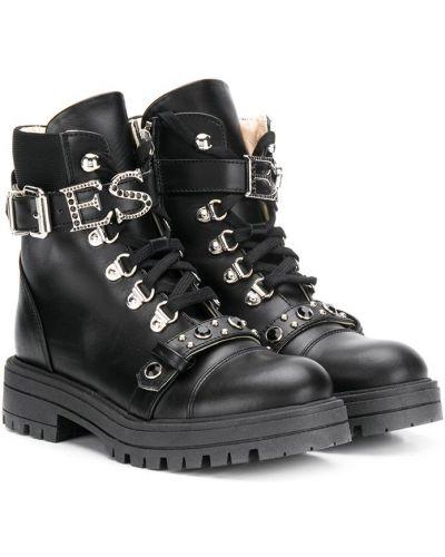 Черные ботинки Ermanno Scervino Junior