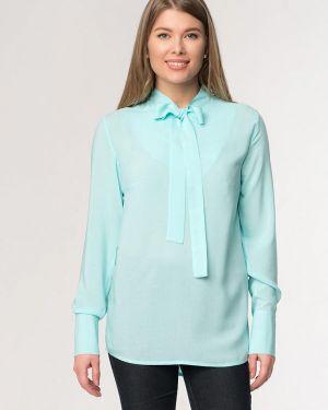 Блузка с длинным рукавом бирюзовая весенний A'tani