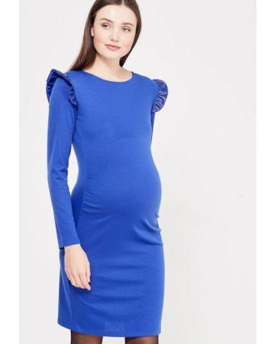 Платье осеннее синее Mammysize
