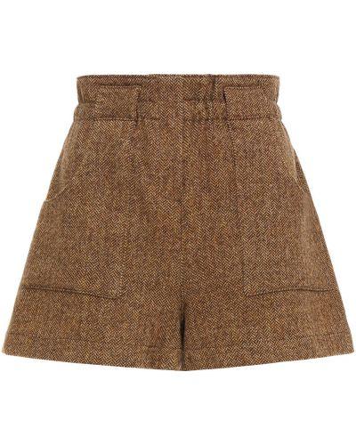 Шорты с карманами - коричневые Ba&sh
