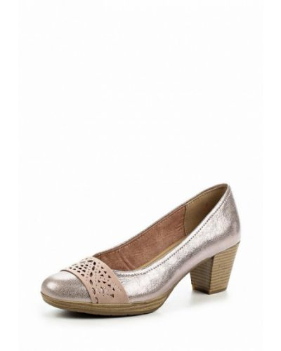 Кожаные туфли на каблуке Marco Tozzi