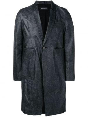 Klasyczny czarny płaszcz bawełniany Undercover