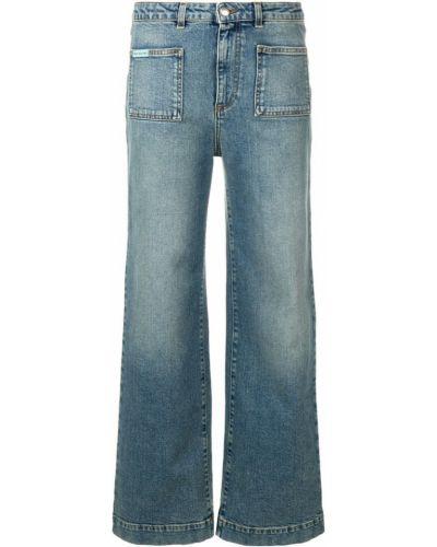 Прямые джинсы укороченные синие Alexa Chung